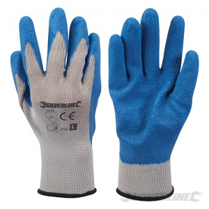 Silverline Latex Builders Gloves 427550